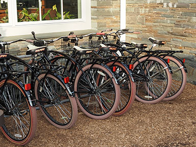 Bicyles to ride at Emerson Resort & Spa - Mt. Tremper, NY - photo by Luxury Experience