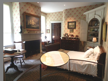 Florence Griswold bedroom - Florence Griswold Museum - Old Lyme, CT, USA - photo by Luxury Experience