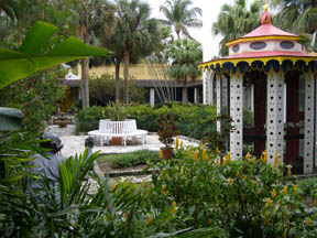 Bonnet House, Fort Lauderdale, Florida - Courtyard and Aviary