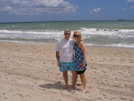 Fort Lauderdale, Florida - Edward and Debra at the Beach