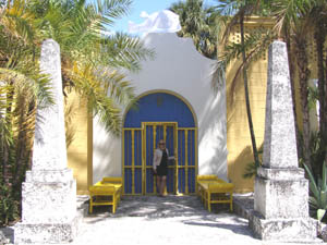 Entrance to Bonnet House, Fort Lauderdale, Florida