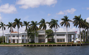 View from Intracoastal Waterway, Fort Lauderdale, Florida