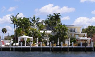 The Pillars at New River Sound, Fort Lauderdale, Florida - View From Intracoastal Waterway