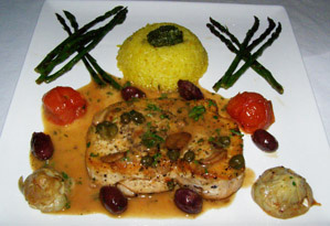 The Secret Garden at The Pillars at New River Sound, Fort Lauderdale, Florida - Mediterranean Style Swordfish