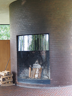Fireplace - The Glass House - photo by Luxury Experience