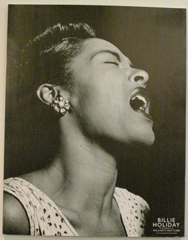 Great Neck Art Center - William P. Gottlieb B&W Poster of Billie Holiday - Great Neck, New York, USA - Photo by Luxury Experience