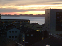 Evening sky in Nuuk, Greenland