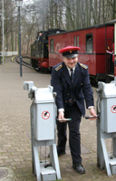 Train Conductor for Molli Train