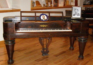1851 Chickering Piano at Piano Museum, Hunter, New York - Photo by Luxury Experience
