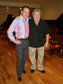 Kenneth Hamrick and Steen E. Greenstein at Piano Museum, Hunter, New York - Photo by Luxury Experience