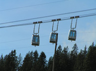 Interlaken, Switzerland - Cable Cars at Niederhorn