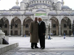 Edward F Nesta and Debra C Argen at the Blue Mosque