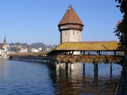 Lucerne, Switzerland - Chapel Bridge and Water Tower