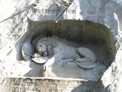 Lucerne, Switzerland - Dying Lion of Lucerne Mounment