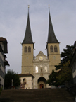 Lucerne, Switzerland - Hof Church