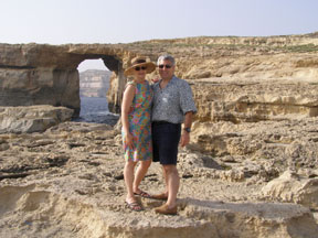 Debra C. Argen and Edward F. Nesta at Azure Window, Gozo, Malta