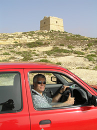 Edward F. Nesta with Watchtower from Knights of Saint John, Gozo, Malta