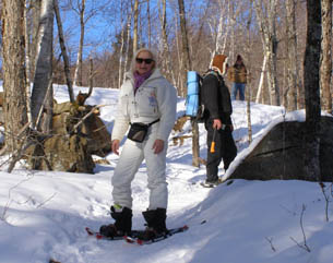 Debra Snowshoeing -  Mont-Tremblant, Canada - Photo by Luxury Experience