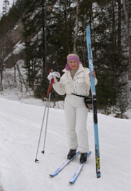 Debra Cross Country Skiing -  Mont-Tremblant, Canada - Photo by Luxury Experience