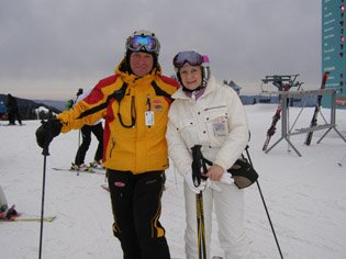 Luc Bechard and Debra at Mont-Tremblant, Canada - Photo by Luxury Experience