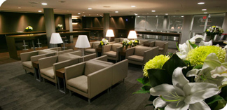 Porter Airlines lounge in Toronto