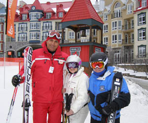 Sylvain Hotte, Debra, Edward at Mont-Tremblant, Canada - Photo by Luxury Experience
