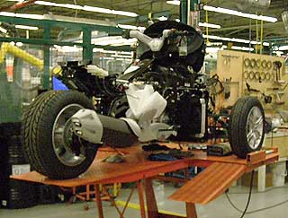 Building a Spyder in factory, Valcourt, Canada - photo by Luxury Experience