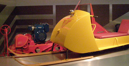 Early Ski-Doo at J. Armand Bombardier Museum, Valcourt, Canada - photo by Luxury Experience