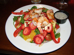 Boccancinos, Montreal, Canada - Grilled Shrimp Salad - Photo by Luxury Experience