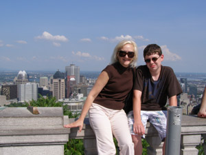 Debra and Steve Viewing Montreal from Mount Royal - Photo by Luxury Experience