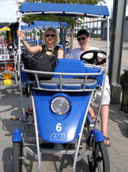 Debra and Steven on Quadricycle International - Photo by Luxury Experience