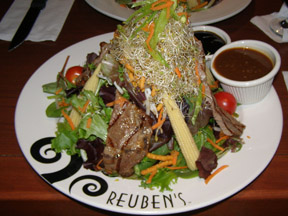 Teriyaki Beef Salad - Reuben's Deli, Montreal, Canada - Photo by Luxury Experience
