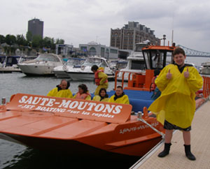 Steve givng 2 Thumbs up for Saute Moutons Lachine Rapids Jet Boat Tours, Montreal, Canada - Photo by Luxury Experience