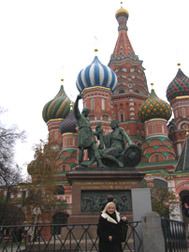 Moscow, Russia - Debra C. Argen at St. Basil's Cathedral