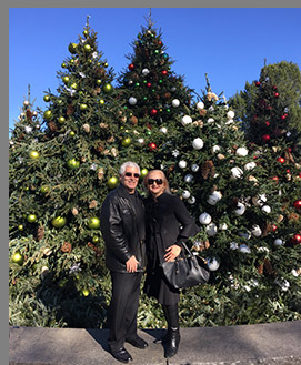 Edward F. Nesta and Debra C. Argen - New York Botanical Garden - The Holiday Train Show - photo by Luxury Experience