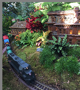 Jordan L. Mott House - New York Botanical Garden - The Holiday Train Show - photo by Luxury Experience