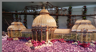 NY Botanical Garden Conservatory - New York Botanical Garden - The Holiday Train Show - photo by Luxury Experience