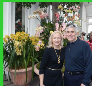 Debra C. Argen and Edward F. Nesta - New York Botanical Garden - NY - photo by Luxury Experience