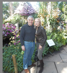 Edward F. Nesta and Debra C. Argen - New York Botanical Gardesn - photo by Luxury Experience