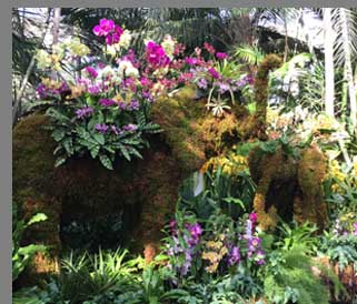 Elepant floral Arrangement - New York Botanical Gardesn - photo by Luxury Experience
