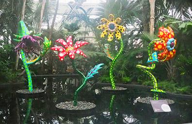 KUSAMA - Flowers - NY Botanical Gardens - photo by Luxury Experience