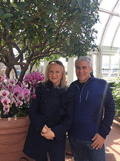 Debra C Argen, Edward F Nesta - NY Botanical Gardens - The Orchid Show - photo by Luxury Experience