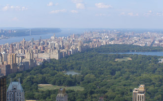 Central Park from The Top of The Rock -  photo by Luxury Experience