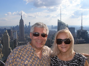 Edward and Debra at The Top of The Rock-  photo by Luxury Experience