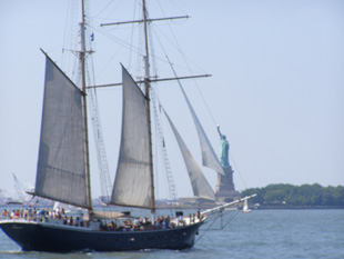 Clipper Ship and Statue of Liberty -  photo by Luxury Experience