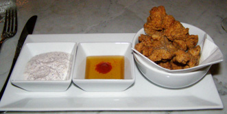 Soda dipped Chicken, Roger Hotel New York-  photo by Luxury Experience