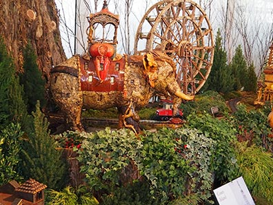 Coney Island -  New York Botanical Gardens The Holiday Trains Show 2019