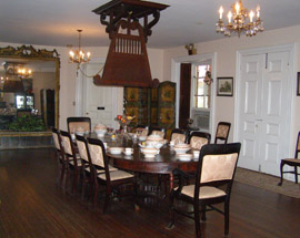 Longwood Antebellum Home - Natchez, Mississippi, USA - Dining Room