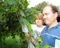 Old South Winery, Natchez, Mississippi, USA - Scott O. Galbreath III and son Scott IV