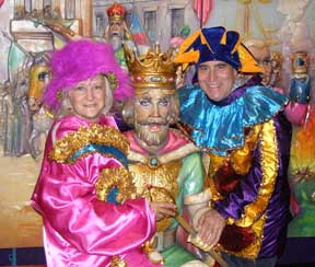 Debra Argen and Edward Nesta at Mardi Gras Musuem, New Orleans, LA, USA - Photo by Luxury Experience